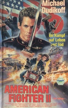 American Ninja 2: The Confrontation - German VHS movie cover (xs thumbnail)