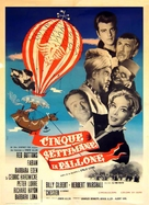 Five Weeks in a Balloon - Italian Movie Poster (xs thumbnail)