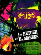 Im Stahlnetz des Dr. Mabuse - French Movie Poster (xs thumbnail)