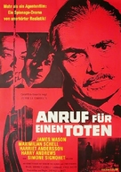 The Deadly Affair - German Movie Poster (xs thumbnail)