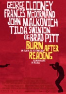 Burn After Reading - Danish Movie Poster (xs thumbnail)