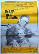 César et Rosalie - Swedish Movie Poster (xs thumbnail)