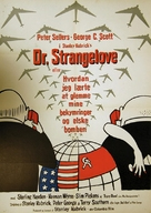 Dr. Strangelove - Danish Movie Poster (xs thumbnail)