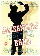 Alexander's Ragtime Band - Swedish Movie Poster (xs thumbnail)