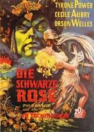 The Black Rose - German Movie Poster (xs thumbnail)