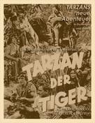 Tarzan the Tiger - German Movie Poster (xs thumbnail)