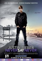 Justin Bieber: Never Say Never - Polish Movie Poster (xs thumbnail)