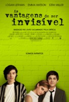 The Perks of Being a Wallflower - Brazilian Movie Poster (xs thumbnail)