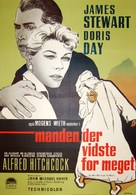 The Man Who Knew Too Much - Danish Movie Poster (xs thumbnail)