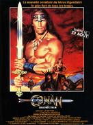Conan The Destroyer - French Movie Poster (xs thumbnail)