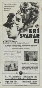 F.P.1 antwortet nicht - Swedish poster (xs thumbnail)
