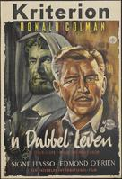 A Double Life - Dutch Movie Poster (xs thumbnail)