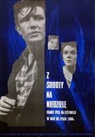 Saturday Night and Sunday Morning - Polish Movie Poster (xs thumbnail)