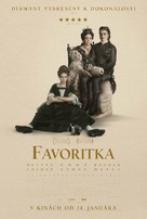 The Favourite - Slovak Movie Poster (xs thumbnail)