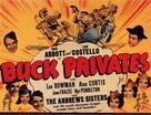 Buck Privates - British Movie Poster (xs thumbnail)