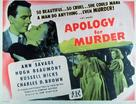 Apology for Murder - Movie Poster (xs thumbnail)