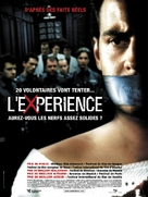 Das Experiment - French Movie Poster (xs thumbnail)