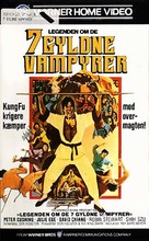 The Legend of the 7 Golden Vampires - Danish VHS movie cover (xs thumbnail)