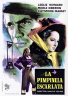 The Scarlet Pimpernel - Spanish Movie Poster (xs thumbnail)