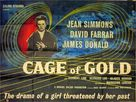 Cage of Gold - British Movie Poster (xs thumbnail)