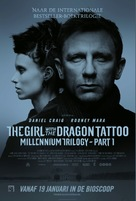 The Girl with the Dragon Tattoo - Dutch Movie Poster (xs thumbnail)