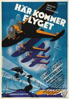 Devil Dogs of the Air - Swedish Movie Poster (xs thumbnail)