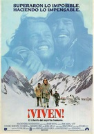Alive - Spanish Movie Poster (xs thumbnail)