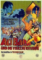 Ali Baba and the Forty Thieves - German Movie Poster (xs thumbnail)