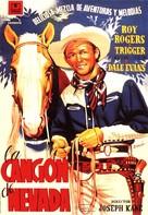 Song of Nevada - Spanish Movie Poster (xs thumbnail)