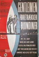 Gentlemen Prefer Blondes - Danish Movie Poster (xs thumbnail)