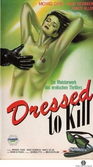 Dressed to Kill - German VHS movie cover (xs thumbnail)