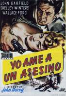 He Ran All the Way - Spanish Movie Poster (xs thumbnail)
