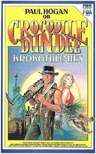 Crocodile Dundee - Finnish VHS movie cover (xs thumbnail)