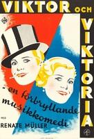 Viktor und Viktoria - Swedish Movie Poster (xs thumbnail)