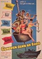Sail a Crooked Ship - German Movie Poster (xs thumbnail)