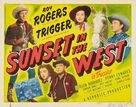 Sunset in the West - Movie Poster (xs thumbnail)
