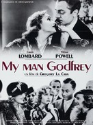 My Man Godfrey - French Re-release movie poster (xs thumbnail)