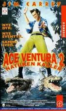 Ace Ventura: When Nature Calls - Norwegian VHS movie cover (xs thumbnail)