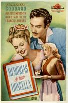 The Diary of a Chambermaid - Spanish Movie Poster (xs thumbnail)