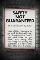 Safety Not Guaranteed - Movie Poster (xs thumbnail)