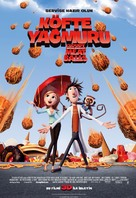 Cloudy with a Chance of Meatballs - Turkish Movie Poster (xs thumbnail)