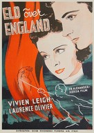 Fire Over England - Swedish Movie Poster (xs thumbnail)