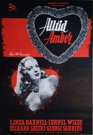 Forever Amber - Swedish Movie Poster (xs thumbnail)