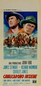 Two Rode Together - Italian Movie Poster (xs thumbnail)