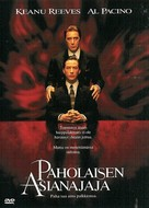The Devil's Advocate - Finnish DVD movie cover (xs thumbnail)