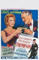 Les carnets du Major Thompson - Belgian Movie Poster (xs thumbnail)