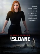 Miss Sloane - French Movie Poster (xs thumbnail)
