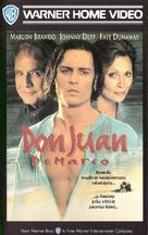 Don Juan DeMarco - Finnish VHS movie cover (xs thumbnail)
