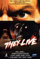 They Live - Norwegian VHS movie cover (xs thumbnail)