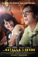Battle of the Sexes - Colombian Movie Poster (xs thumbnail)